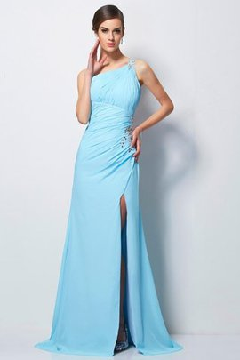 One Schulter Sweep train Chiffon Enges Sittsames Ballkleid