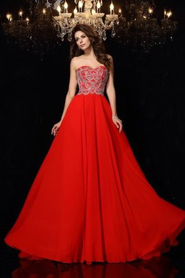 Normale Taille Perlenbesetztes Formelles Sexy Ballkleid mit Sweep zug