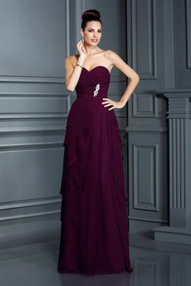 Empire Taille Chiffon Formelles Bodenlanges Sexy Abendkleid