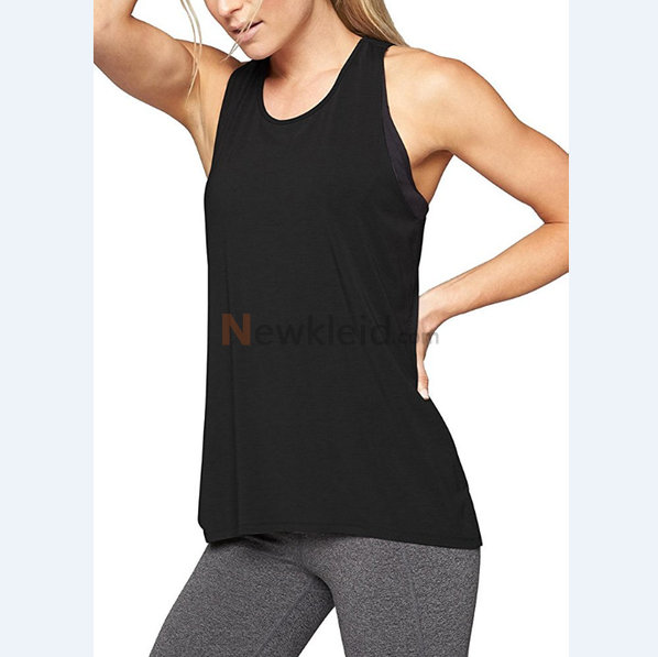 Polyester Rundkragen Temperament Leger Mode Tank Top Kleid - Bild 2
