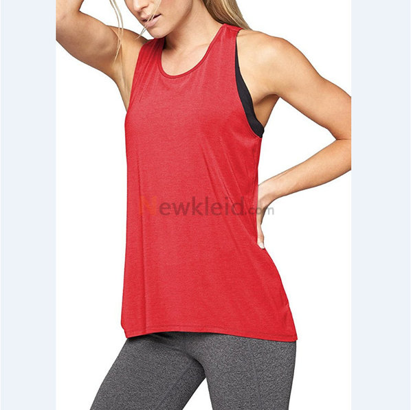 Polyester Rundkragen Temperament Leger Mode Tank Top Kleid - Bild 4