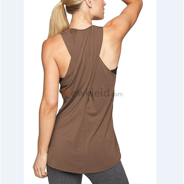 Polyester Rundkragen Temperament Leger Mode Tank Top Kleid - Bild 5